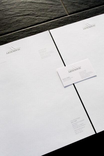 Printmedien, Geschäftausstattung Blindprägung