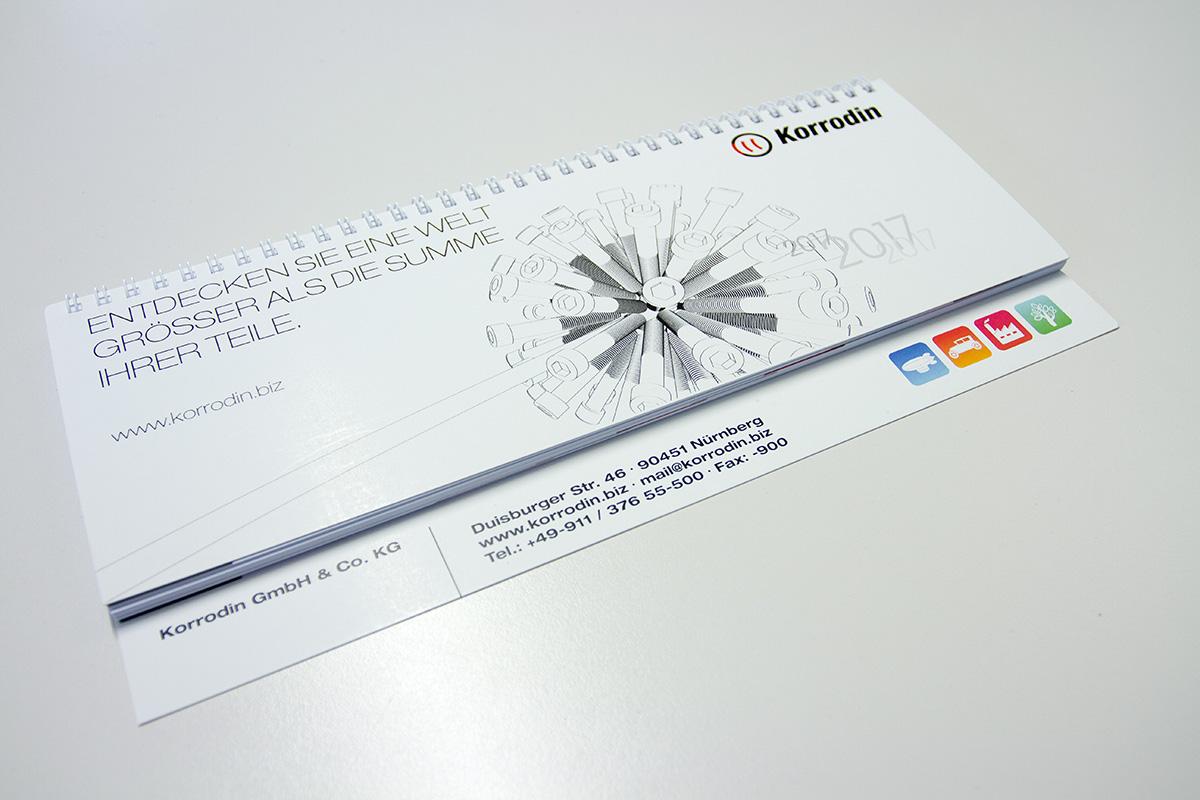 Branding Element für Markenentwicklung: Werbemittel Kalender