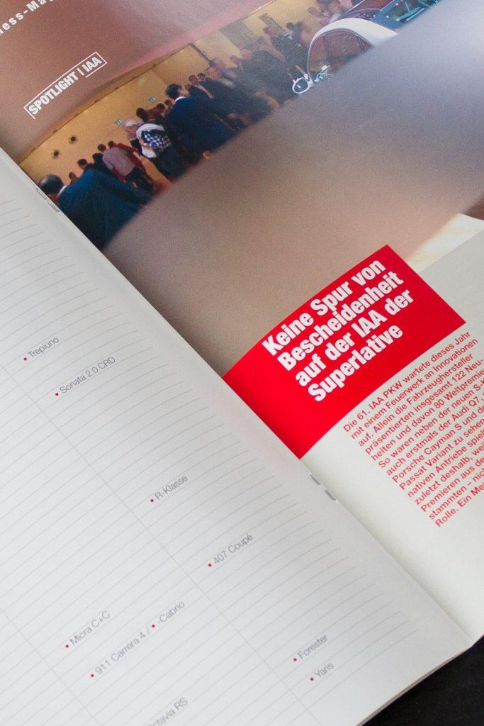 Print, Kundenmagazin Innenansicht