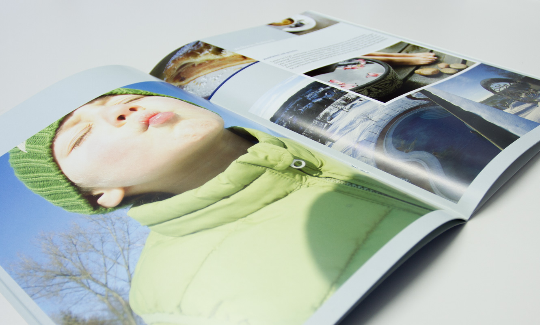 Editorial Design Winterkatalog Innenansicht
