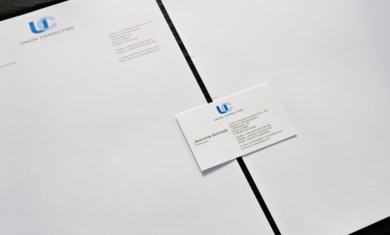 Logo Design, Geschäftsausstattung in Form von Briefbogen und Visitenkarte