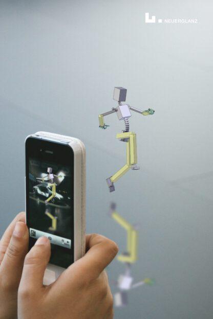 Smartphone: Professionelles Design präsentiert durch springendes Männchen