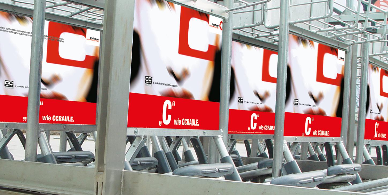 Kampagne Gepäck Display Flughafen Nürnberg