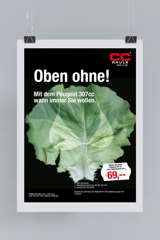 B2C Kampagne: Salatblatt oben ohne