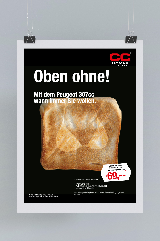 B2C Kampagne: Toast oben ohne
