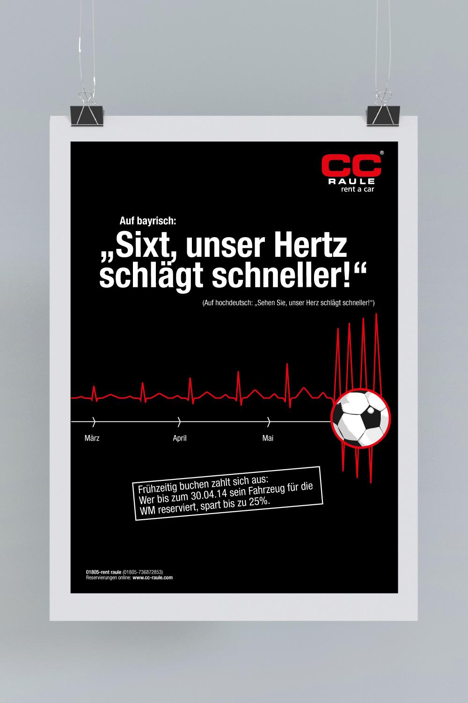 B2C Kampagne: Sixt, unser Hertz schlägt schneller