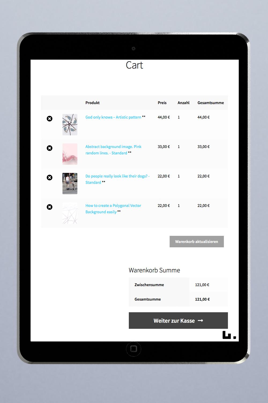 Wordpress Website mit Online Shop in Woocommerce für deutschen Markt