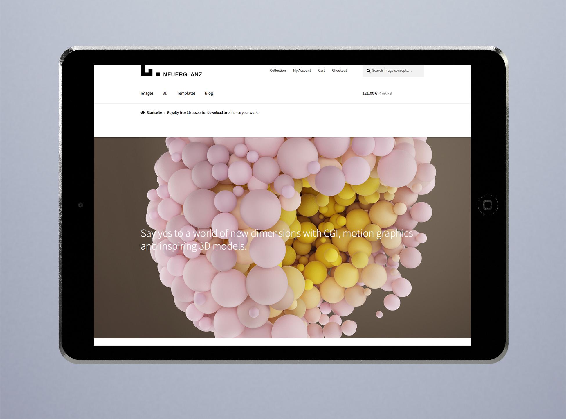 Website mit Online Shop in Woocommerce für deutschen Markt für mobile Geräte