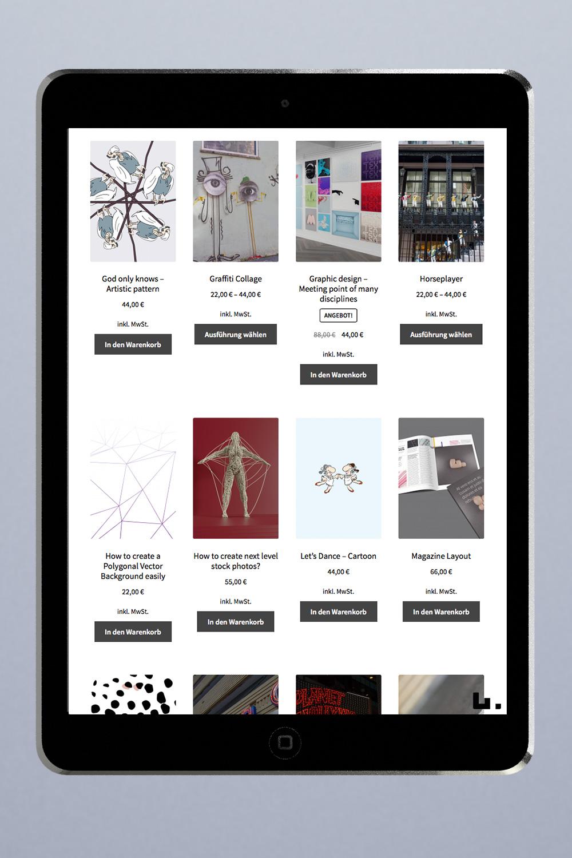 Website mit Online Shop in Woocommerce für deutschen Markt