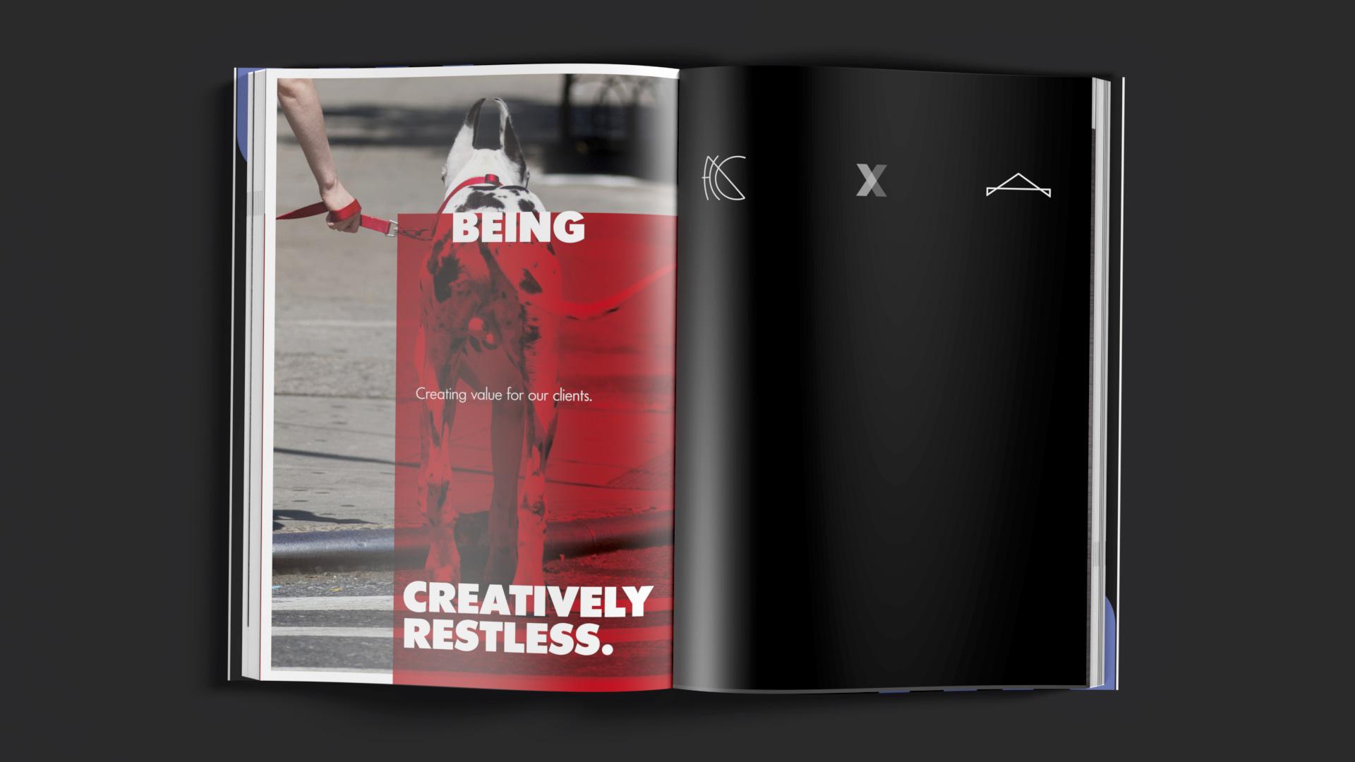 Gebundene Ausgabe des Portfolios der kreativen Agentur OINO