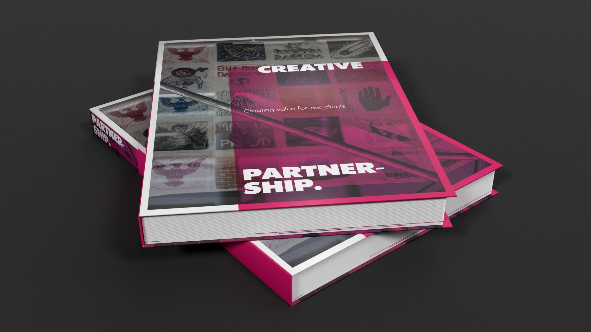 Gebundene Ausgabe des Portfolios der Werbeagentur OINO