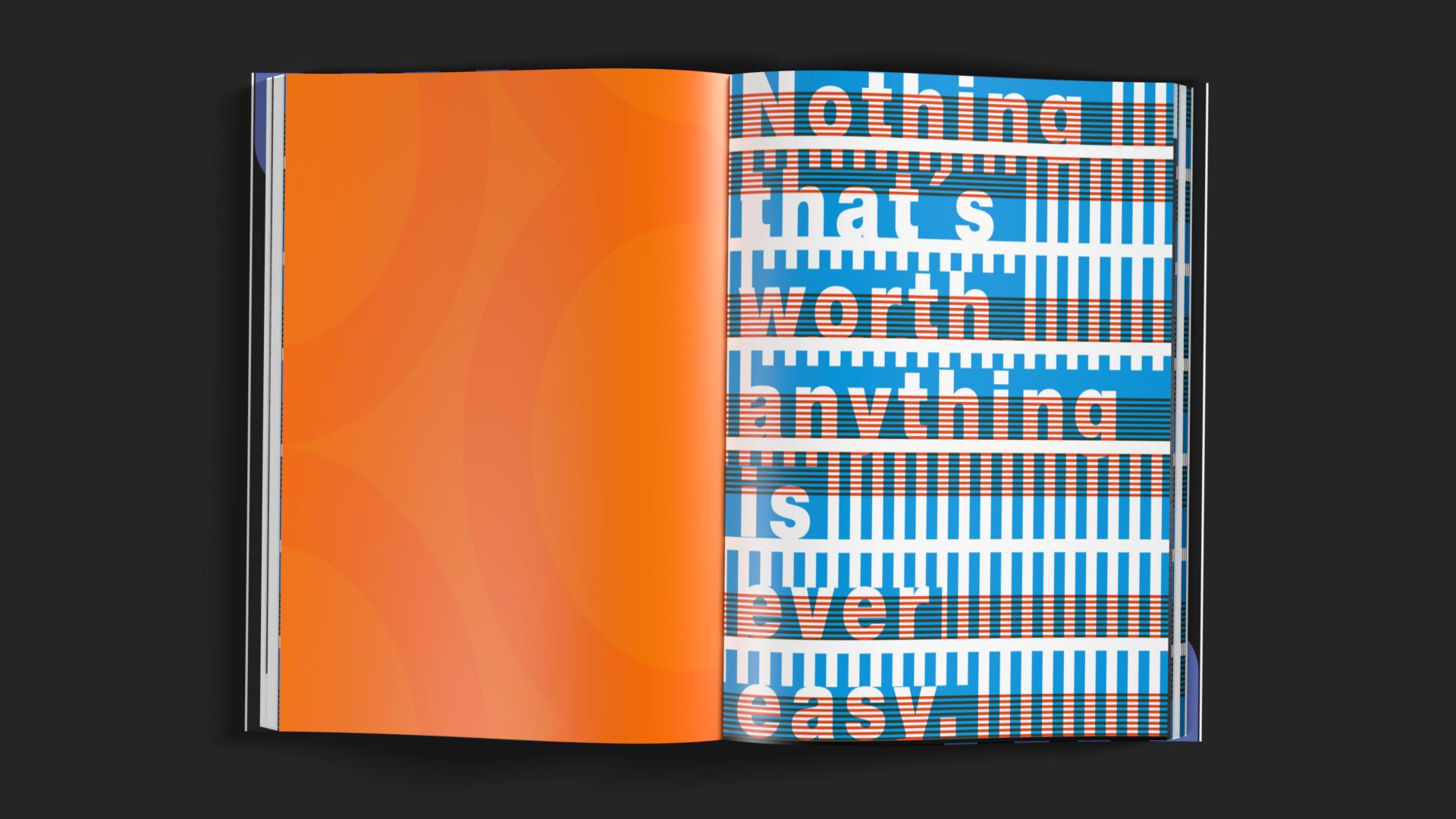 Gebundene Ausgabe des Portfolios der Brand Design Agentur OINO